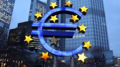 Euro zone industry output dips in February on eve of virus measures